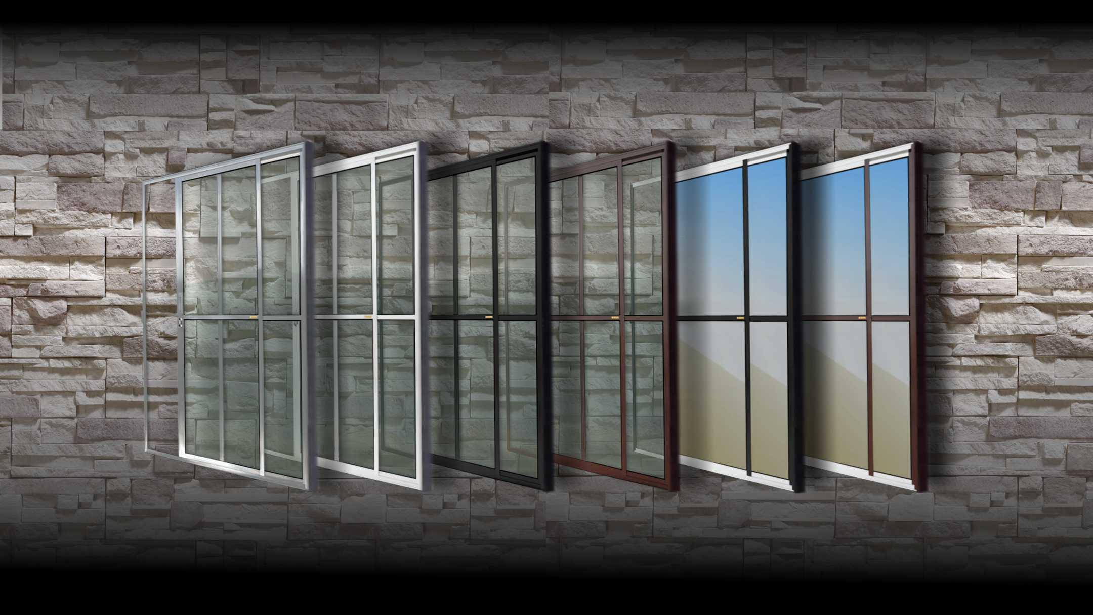#47515A Portas e Janelas BRIMAK Todas as Portas e Janelas que Fabricamos 1654 Janela De Aluminio Linha 25