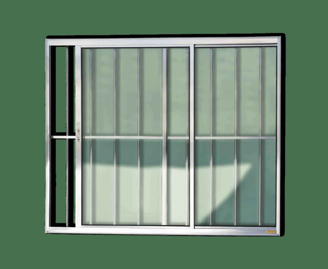 #5D636E Janelas de Alumínio da Linha Confort BRIMAK Portas e Janelas 266 Janelas De Vidro Quatro Folhas